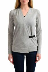 Tom Ford 100 Cashmere Gray Knitted Women's Wrapped Sweater Size Xs S L Xl
