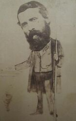 Antique Probable Gold Miner Rush Georgetown Co Pool Hall Caricature Cdv Photo