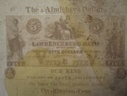 Antique Almighty Dollar Lawrenceburg Bank Tennessee Tn Rare Cabinet Card Photo