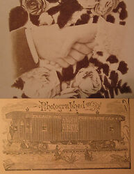 Antique Victorian Palace Rr Photography Co Christmas Love Cabinet Card Photo