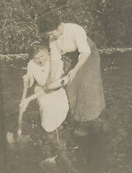 Antique Female Gold Miners Shovel Pan River Mining Miner American Rppc Photo