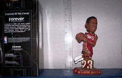 2003 Lebron James Rookie Red Jersey Dunking Bobblehead Cleveland Cavaliers