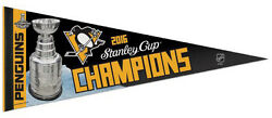 Pittsburgh Penguins 2016 Stanley Cup Champions Premium Felt Collector's Pennant