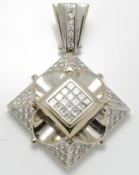 Well Made 4.85 ctw. Diamonds Hip Hop Large Pendant 18K White Gold 72.0 grams