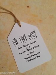 Wedding Favour Luggage Tags Labels - Let Love Grow Seeds Favours