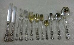 Iris & New Art by Durgin Sterling Silver Flatware Set Service Nouveau 177 Pieces