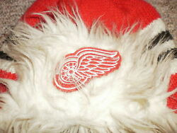 Detroit Red Wings Reebok Trapper Style Winter Hat One Size Face Off Collection