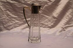 Magnificent 1900's English Aspery Sterling Silver Crystal Decanter