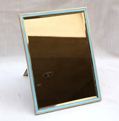Art Deco 1920and039s Enameled Sterling Mirror Picture Frame