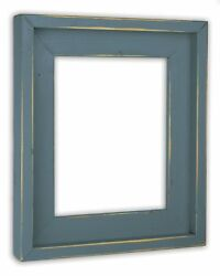Farmhouse Slate Blue Picture Frame - Solid Wood