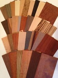Wood Veneer variety piece pack OVER 20 square feet Artist craft cricut Marquetry $13.99