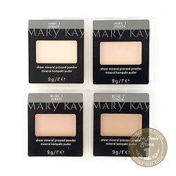 Mary Kay Sheer Mineral Pressed Powder Ivory 1 Ivory 2 Beige 1 Beige 2 FRESH!