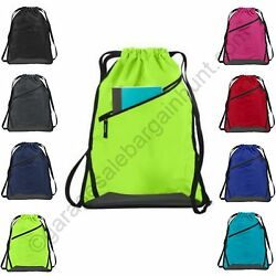 Cinch Sack Backpack String Drawstring Backpack Gym Bag Tote School Sport Travel $7.00