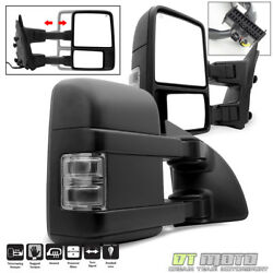 Pair2 2008-2016 Ford F250f550 Superduty Power Heated Signal Tow Mirrors Smoke