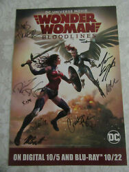 Dc Universe Wonder Woman Bloodlines Nycc 2019 Exclusive Poster Signed By Cast