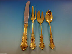 Georgian Rose Vermeil By Reed And Barton Sterling Regular Size Settings 4pc