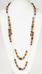 Diane von Furstenberg Purple and Orange Glass Flappers