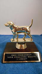 BEAGLE DOG COMPETITION RABBIT HUNT TROPHY AWARD FIRST PLACE FREE ENGRAVING