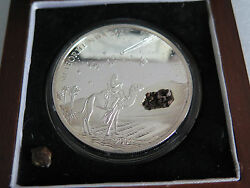 Liberia 2004 Nwa 267 Meteorite Silver Coin Only 999 Made 2oz 10