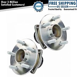 Rear Wheel Hub And Bearing Assembly Pair Set For Toyota Pontiac W/ Abs