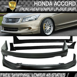 Actual Install Image Fits Accord Front + Rear Bumper Lip + Side Skirts