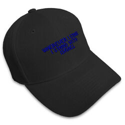 WHEREVER I STAND I STAND ISRAEL Embroidery Embroidered Adjustable Hat Cap