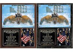 Michael Phelps 23 Career Gold Medals Photo Plaque 2016 Rio Olympics