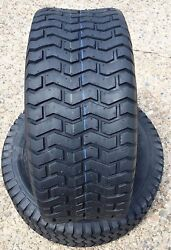 Two New 18x6.50-8 Lawn Tractor Turf Lawn Mower Garden Tractor Tires 18 650 8