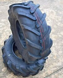 2 Two 16x6.50-8 Lawn Tractor Super Lug Tubeless Tires Ds5291