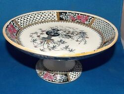 Copeland Spode China Round Compote Stunning Colors Very Early