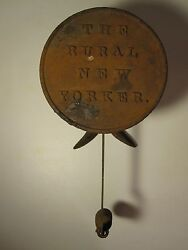 Antique 1891 Rural New Yorker Farm Magazine Store Advertising Scale Whaleand039s Tail
