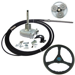 14 Ft Planetary Gear Outboard Marine Steering System With Steering Cable Wheel