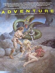 Orig 1980s CompuServe ADVENTURE Video Game Promo Poster artwrk Gray Morrow SciFi