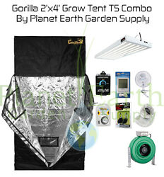 2' x 4' Gorilla Grow Tent 324W T5 Combo Package #2 with FREE SHIPPING