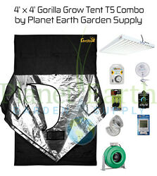 4' x 4' Gorilla Grow Tent 648W T5 Combo Package #2 with FREE SHIPPING