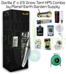 2' x 2.5' Gorilla Grow Tent Kit 400W HPS Combo Package #2 with FREE SHIPPING.
