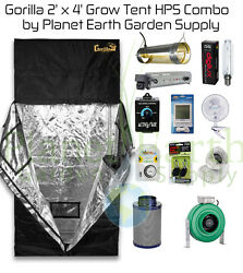 2' x 4' Gorilla Grow Tent Kit 400W HPS Combo Package #1 with FREE SHIPPING.