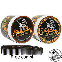 Suavecito Pomade Firme And Original Hold Double Deal 2 Pack 4 Oz. Cans