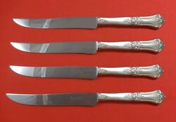 Stately By State House Sterling Silver Steak Knife Set 4pc Texas Sized Custom