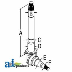 A-c9nn3105c For Ford Tractor Spindle Rh 8000 8600 9000 9600