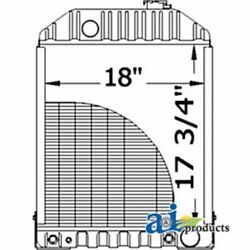 A-d8nn8005kb For Ford Tractor Radiator W/ Cooler 5600 6600 7600 7700