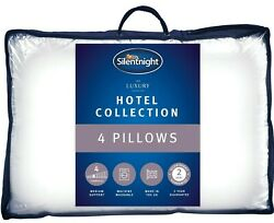 Silentnight Hotel Collection Pillow 4 Pack Luxury Hotel Quality Soft Back Side