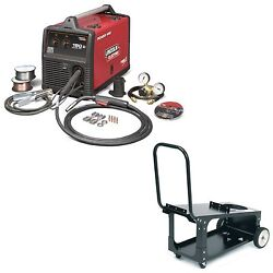 Lincoln Power Mig 180c Welder Pkg. With Economy Cart K2473-2 And K2275-1