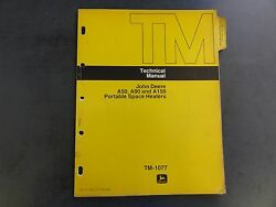 John Deere A50,a90, And A150 Portable Space Heaters Technical Manual Tm-1077
