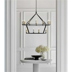 Darlana Horchow Visual Comfort 2-tiered Ring Chandelier 5178 Gold, Iron, Medium