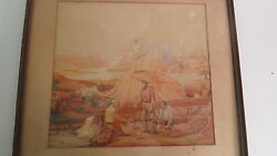 Rare Antique Gold Mining Watercolor From San Francisco