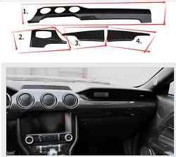 New Carbon Interior Dash Panel Air Vent Bottom Trim Cover For Mustang 2015-2017