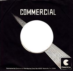 Company Sleeve 45 Commercial - Black W/ White Writing And Square Logo