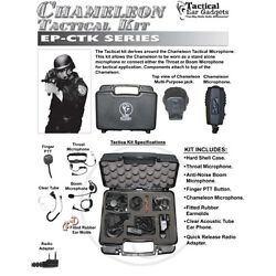 Earphone Connection CHAMELEON Tact Kit for Kenwood NX TK Radios (See List)