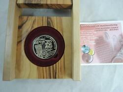 Israel 2005 The Aleppo Codex Official Medal 17g Gold 14k + Coa +olive Wood Box